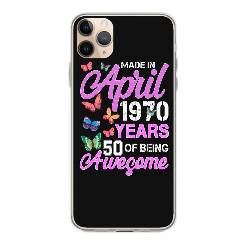 Made In April 1970 Ears 50 Of Being Awesome For Dark Iphone 11 Pro Max Case | Artistshot