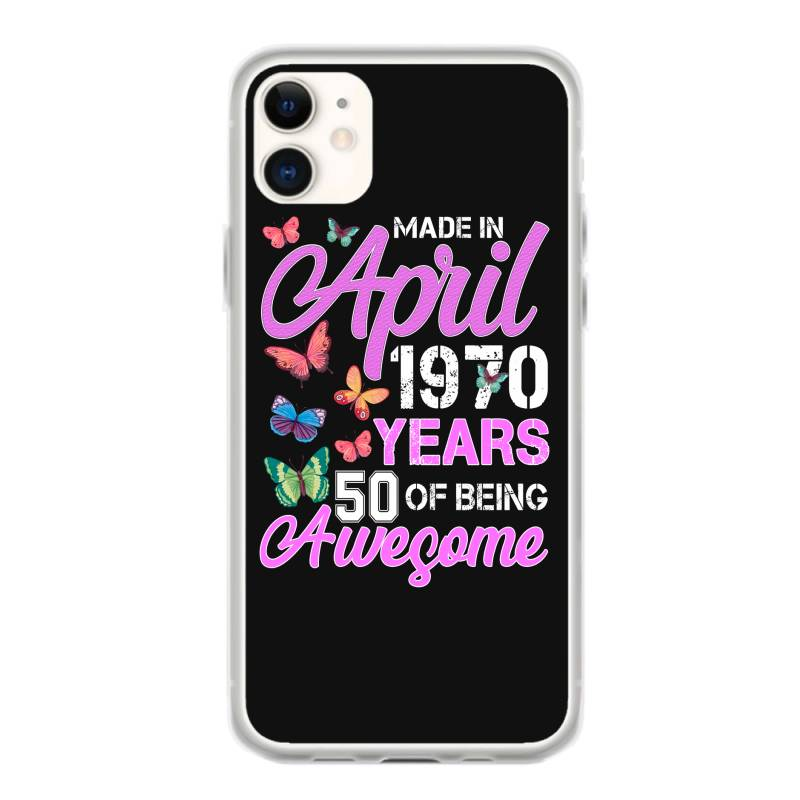 Made In April 1970 Ears 50 Of Being Awesome For Dark Iphone 11 Case | Artistshot