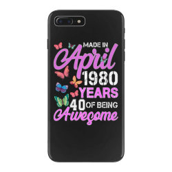 made in april 1980 years 40 of being awesome for dark iPhone 7 Plus Case | Artistshot