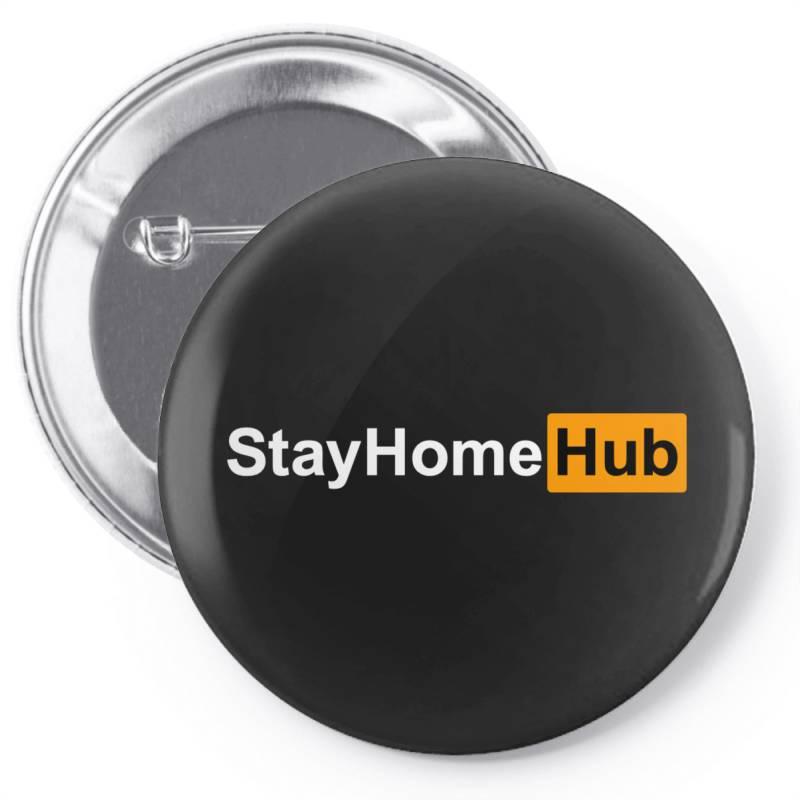 Stay Home Hub Pin-back Button | Artistshot