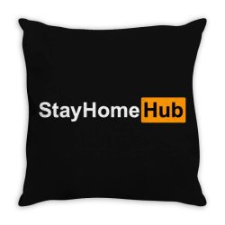 stay home hub Throw Pillow | Artistshot