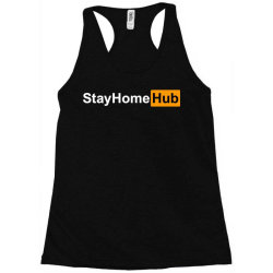 stay home hub Racerback Tank | Artistshot