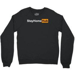 stay home hub Crewneck Sweatshirt | Artistshot