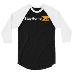 stay home hub 3/4 Sleeve Shirt | Artistshot