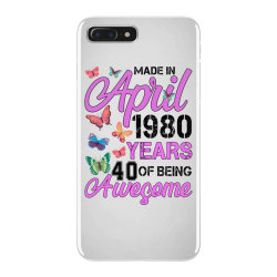 made in april 1980 years 40 of being awesome for light iPhone 7 Plus Case | Artistshot