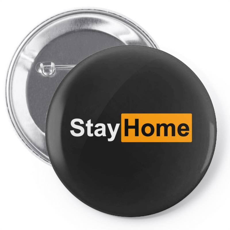 Stay Home Pin-back Button | Artistshot