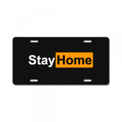 stay home License Plate | Artistshot