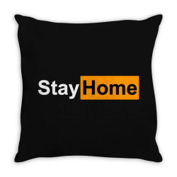stay home Throw Pillow | Artistshot
