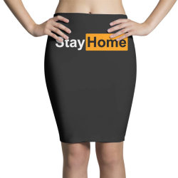 stay home Pencil Skirts | Artistshot