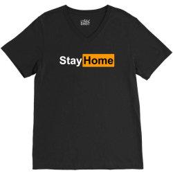 stay home V-Neck Tee | Artistshot