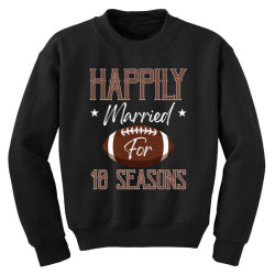 happily married for 10 seasons for dark Youth Sweatshirt | Artistshot