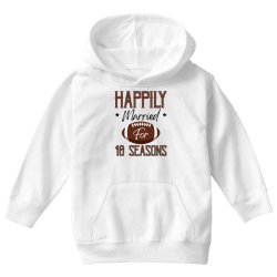happily married for 10 seasons for light Youth Hoodie | Artistshot