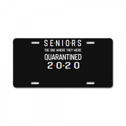 seniors the one where they were quarantined 2020 shirt License Plate | Artistshot
