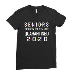 seniors the one where they were quarantined 2020 shirt Ladies Fitted T-Shirt | Artistshot