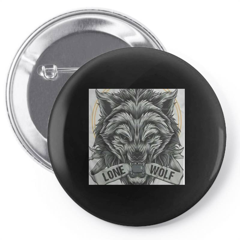 Lone Wolf Pin-back Button | Artistshot