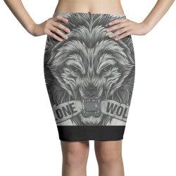 Lone wolf Pencil Skirts   Artistshot