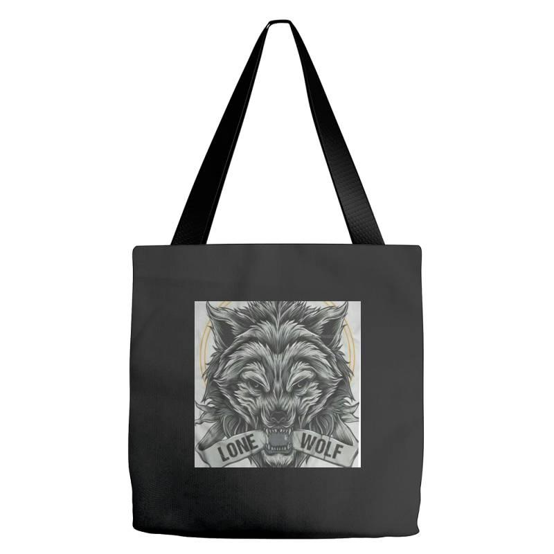 Lone Wolf Tote Bags | Artistshot