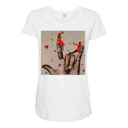 Couple Maternity Scoop Neck T-shirt | Artistshot