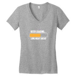 beer loading Women's V-Neck T-Shirt   Artistshot