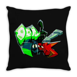 don't look graffiti Throw Pillow | Artistshot