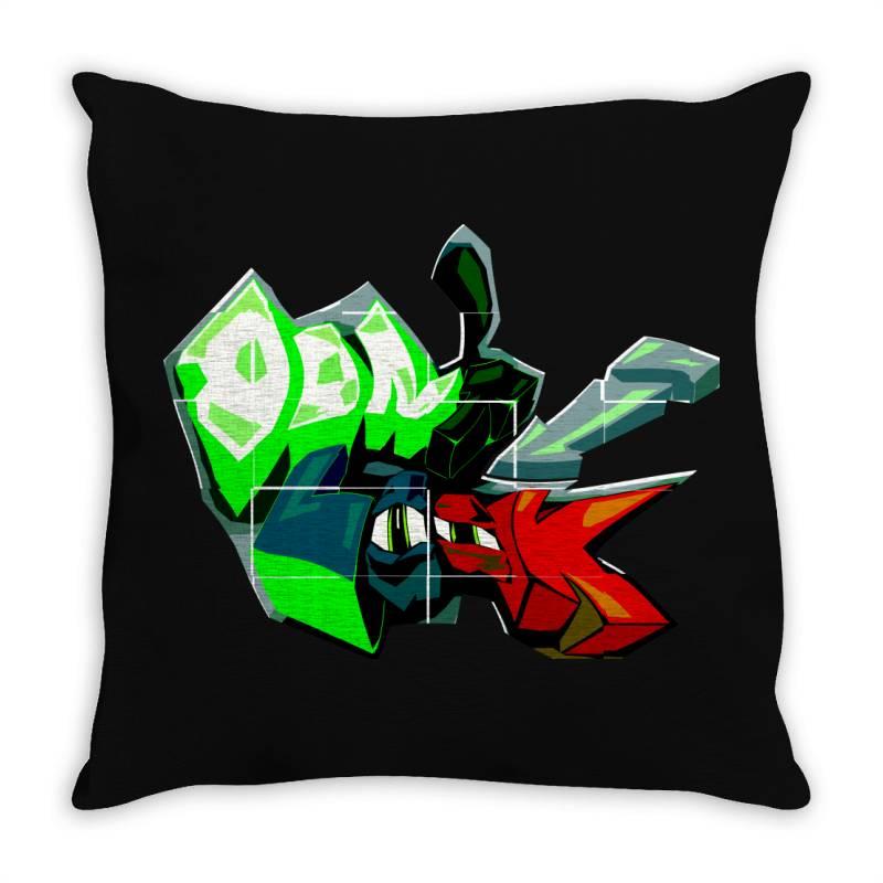Don't Look Graffiti Throw Pillow   Artistshot