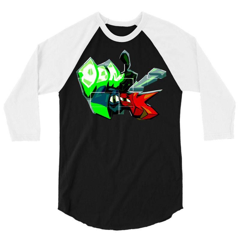 Don't Look Graffiti 3/4 Sleeve Shirt | Artistshot
