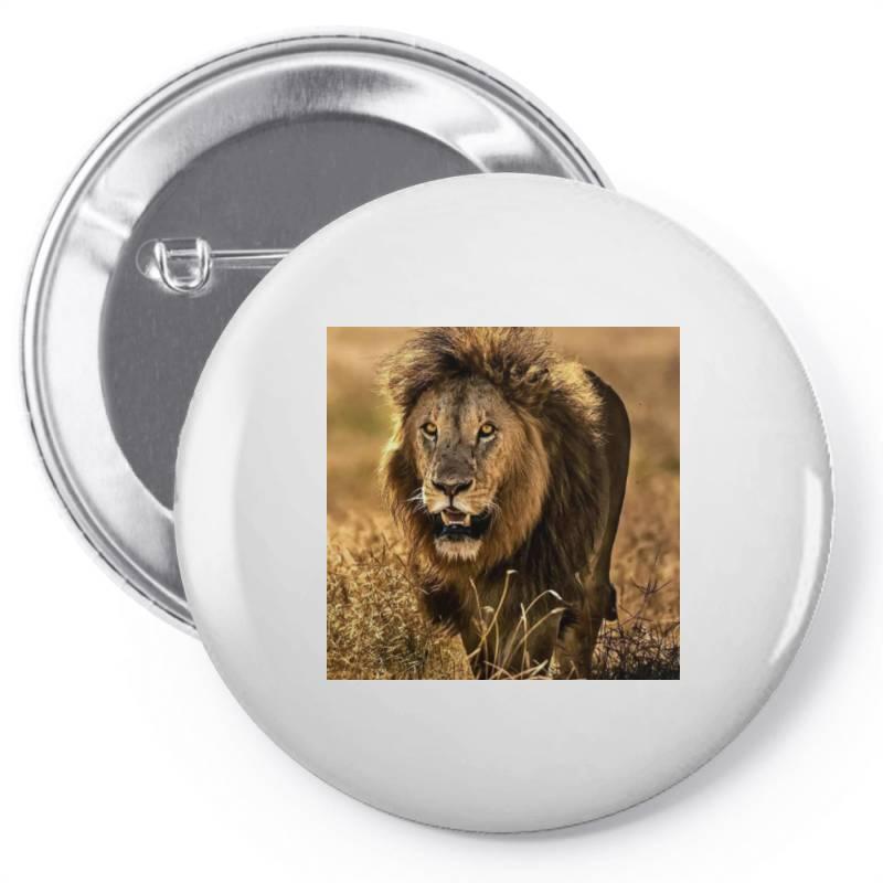Lion Pin-back Button | Artistshot