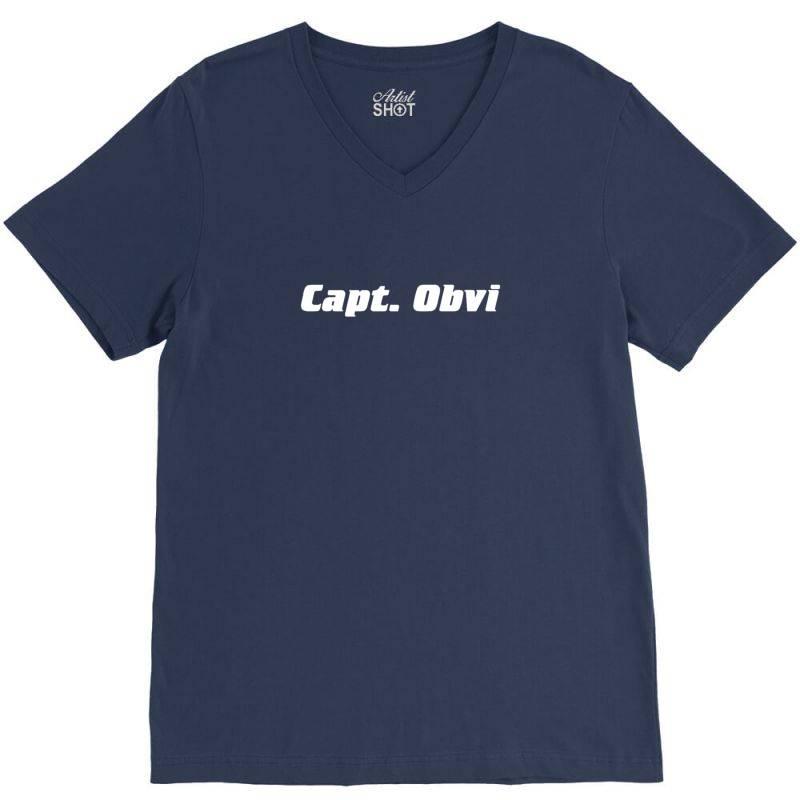 Capt Obvi V-neck Tee | Artistshot