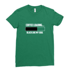 coffee loading 1 Ladies Fitted T-Shirt | Artistshot