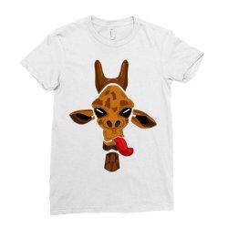 giraffe Ladies Fitted T-Shirt   Artistshot