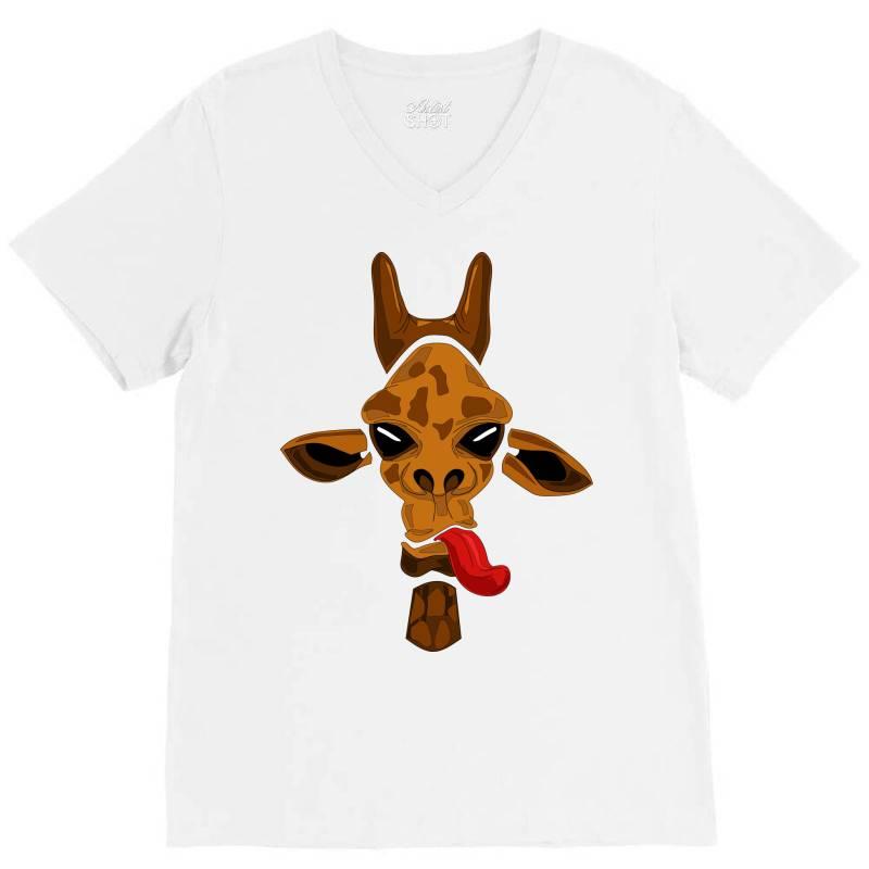 Giraffe V-neck Tee | Artistshot