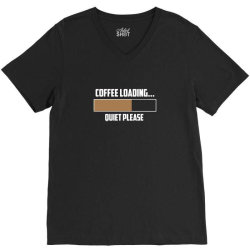 coffee loading 3 V-Neck Tee | Artistshot
