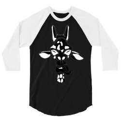 giraffe vector 3/4 Sleeve Shirt | Artistshot