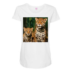 Leopard mom Maternity Scoop Neck T-shirt | Artistshot