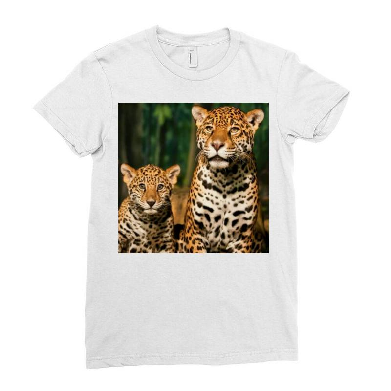 Leopard Mom Ladies Fitted T-shirt | Artistshot