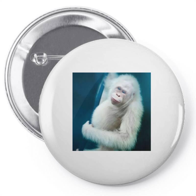 Albino Orangutan Pin-back Button | Artistshot