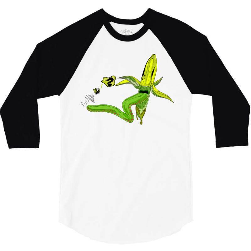 Monster Banana 3/4 Sleeve Shirt | Artistshot