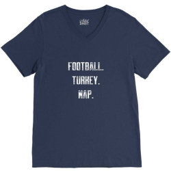 football turkey nap V-Neck Tee | Artistshot