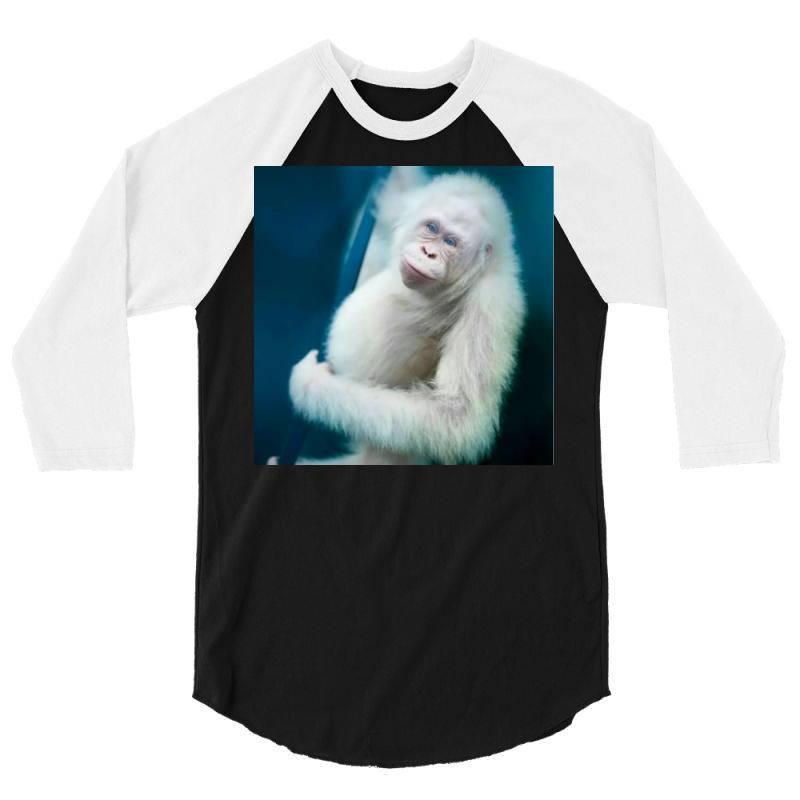 Albino Orangutan 3/4 Sleeve Shirt | Artistshot