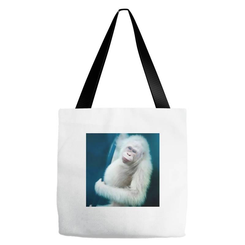 Albino Orangutan Tote Bags | Artistshot