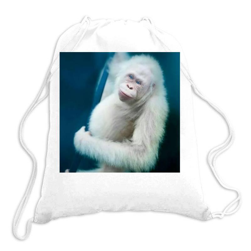 Albino Orangutan Drawstring Bags | Artistshot