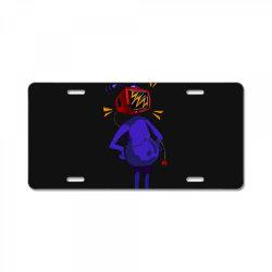 retro tv man License Plate | Artistshot