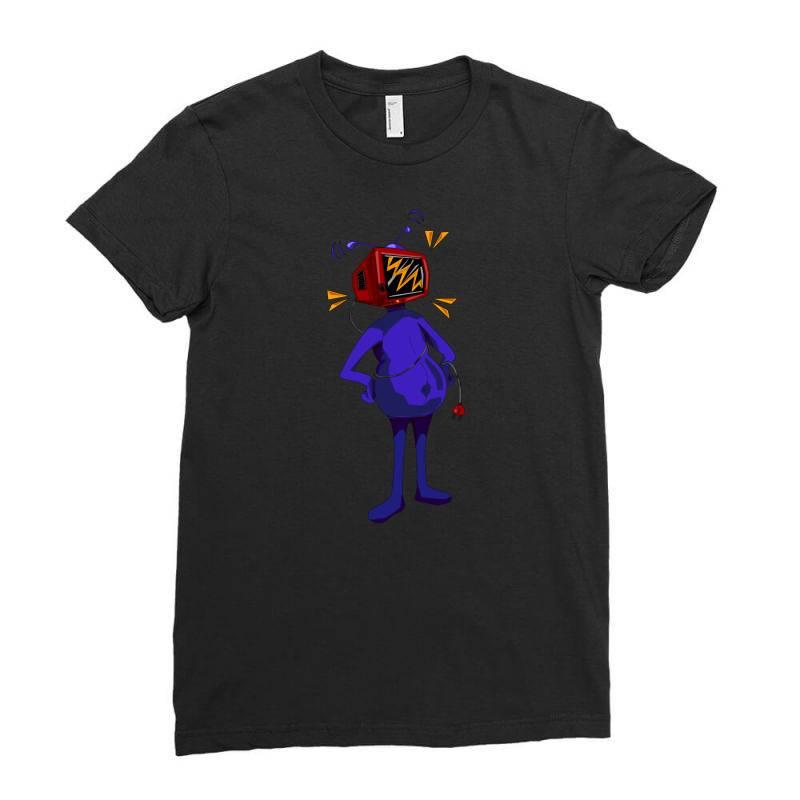 Retro Tv Man Ladies Fitted T-shirt | Artistshot