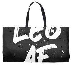Leo AF Leo Birthday Zodiac Sign Horoscope Weekender Totes | Artistshot