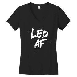 Leo AF Leo Birthday Zodiac Sign Horoscope Women's V-Neck T-Shirt | Artistshot