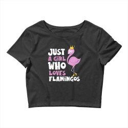 Just A Girl Who Loves Flamingos Flamingo Lover Girls Crop Top | Artistshot