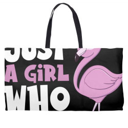 Just A Girl Who Loves Flamingos Flamingo Lover Girls Weekender Totes | Artistshot