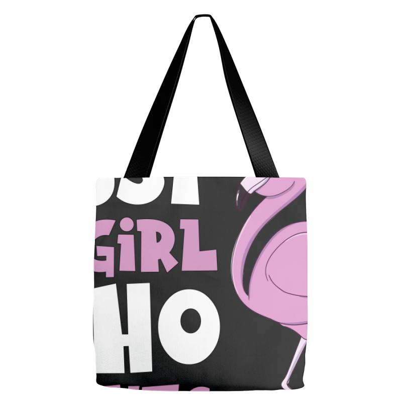 Just A Girl Who Loves Flamingos Flamingo Lover Girls Tote Bags | Artistshot