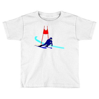 Competition Ski Slalom Sport Toddler T-shirt Designed By Salmanaz