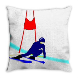 competition ski slalom sport Throw Pillow   Artistshot
